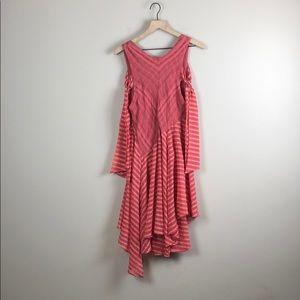 Free People Striped Asymmetrical Dress (XS)